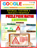 Binomial Theorem & Pascal's Triangle - (5 Activities) Google Interactive