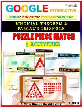 Binomial Theorem & Pascal\'s Triangle - (5 Activities) Google Interactive