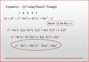 Binomial Theorem Using Pascal's Triangle PP