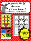 Binomials Maze Runner Game