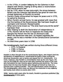 Benjamin Franklin: Biography