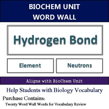 Bio Chemistry Word Wall
