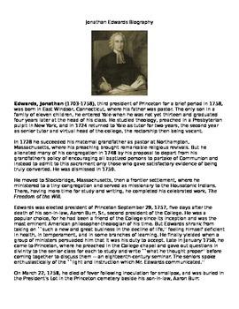 Jonathan Edwards: Biography