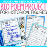 Bio Poem Biography Project for Historical Figures or Famou