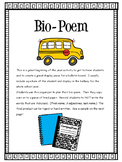Bio-Poem Graphic Organizer