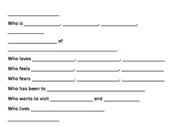 Bio Poem Instructions/Template