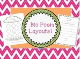 Bio Poem Layouts!