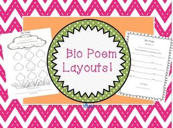 Bio Poem Layouts!