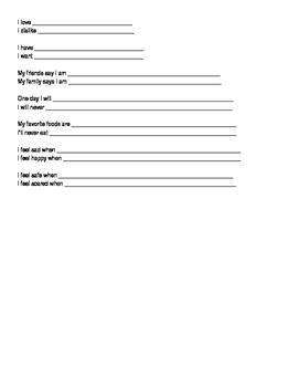 Bio Poem & Opposite Poem (Fill in the Blanks)