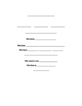 Bio Poem Template