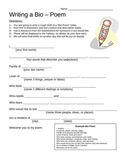 Bio-Poem Template with Example