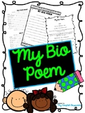 Bio Poem Writing, templates, brainstorming