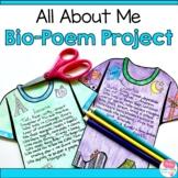 Bio-Poem and T-Shirt Design Project