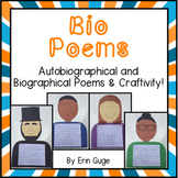 Poetry: Bio Poems (Autobiographical and Biographical Poems and Craftivity)