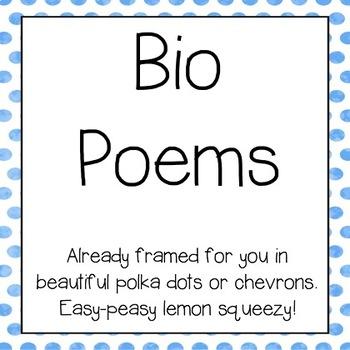 Bio Poems- Bulletin Board Ready