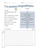 Bio Poems in French - Les poèmes biographiques
