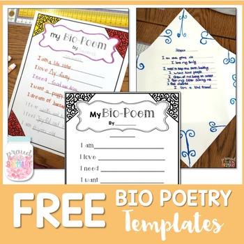 Bio Poetry Writing Templates