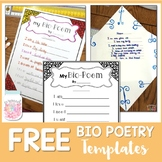 Bio Poetry Writing Templates
