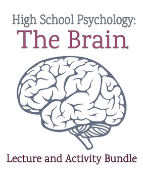 """Psychology: """"The Brain"""" Lecture and Activity Bundle"""