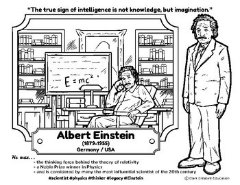 Bio Sphere - Albert Einstein - Differentiated Reading, Slides & Activities