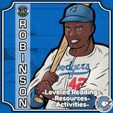 Bio Sphere - Jackie Robinson - Differentiated Reading, Slides & Activities