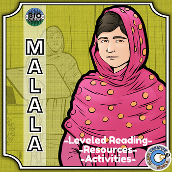 Bio Sphere - Malala Yousafzai Resources - Differentiated Leveled Reading & Fun