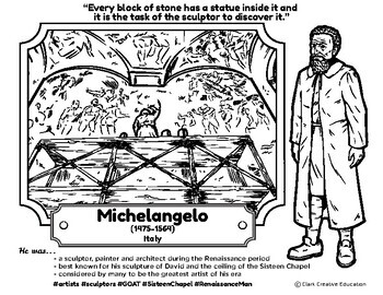 Bio Sphere - Michelangelo - Differentiated Reading, Slides & Activities