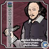 Bio Sphere - William Shakespeare - Differentiated Reading, Slides & Activities