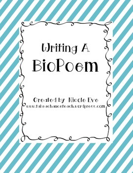 Literacy: BioPoem (Writing About Self/Fictional/Historical Characters)