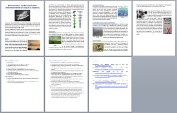 Bioaccumulation and Biomagnification - Science Reading Article - Grade 8 and Up