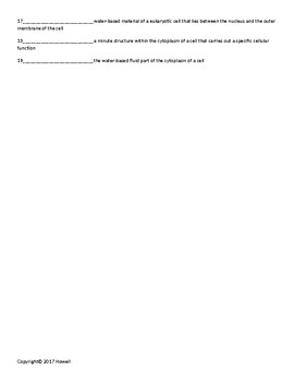Biochemical Energy Production Quiz or Worksheet for Biological Chemistry