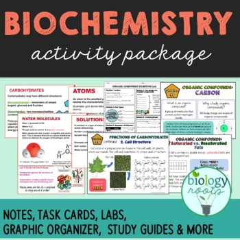 Biochemistry Activity Package (Enzymes, Organic Molecules, Chemistry of Life)