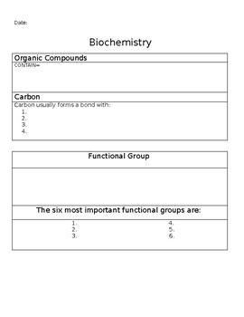 Biochemistry Basics Teaching Resources Teachers Pay Teachers