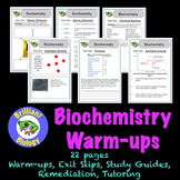 Biochemistry Bell Ringers, Warm-ups, or Exit Slips {NO PREP}