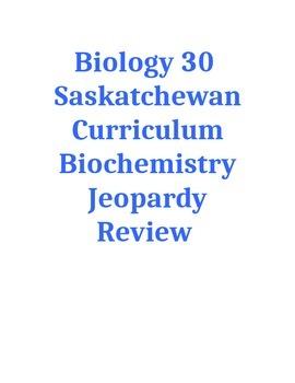 Biochemistry Jeopardy Review