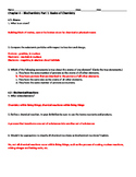 Biochemistry: Part 1 - Basics of Chemistry Worksheet