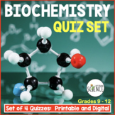 Biochemistry Quizzes Set of 2 Chemistry of Biology Organic Compounds