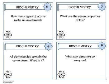 Biochemistry Task Card Review