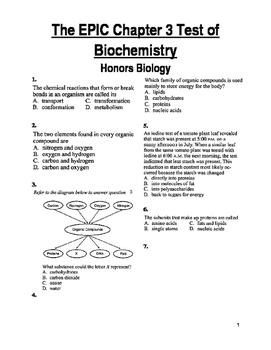 Biochemistry Test