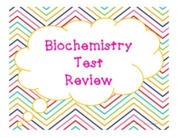 Biochemistry Test Review (Around the Room Activity or Task Cards)