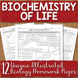 Biochemistry Unit Homework Page Bundle