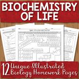 Biochemistry Unit Homework Page Bundle
