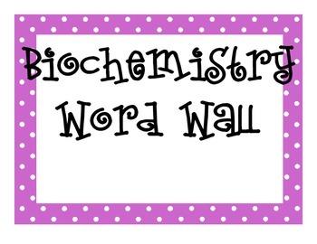 Biochemistry Word Wall