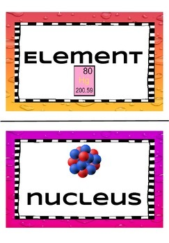 Chemistry for Life Word Wall