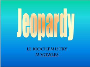 Biochemistry review jeopardy game