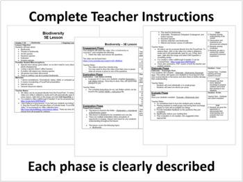 Biodiversity - Complete 5E Lesson Bundle