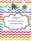 Biodiversity & Ecological Succession Word Wall Terms