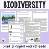 Biodiversity - Guided Practice - Print & Google Versions