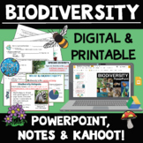 Biodiversity Interactive PowerPoint with Student Notes and Kahoot! Quiz