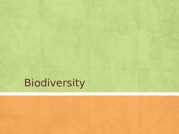 Biodiversity Intro and Activity